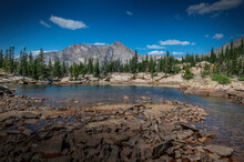 Castle Lake And Mount Alice In Rocky Mountain National Park, Colorado, USA