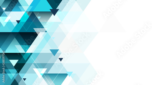 Abstract triangular geometric background with place for your content. Editable vector design.