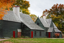 The Back Side Of The Saugus Iron Works House In Fall Colors