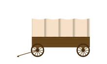 Vintage Van Flat Illustration Isolated On White Background