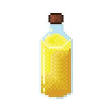 Oil Pixel Art. Vegetable Oil For Cooking.