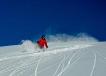 A Heli Skiing Guide Skiing Fresh Snow