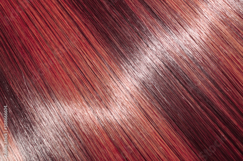 Foto single piece clip in straight wine mixed red highlights synthetic hair extension