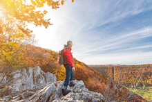 Senior Male Hiker Standing On ...