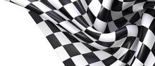 Finish Flag Digital 3d Race