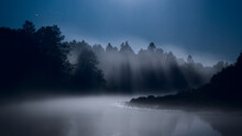 Misty Mist Over The River, Moo...