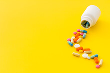 Pills Bottle With Medicines An...
