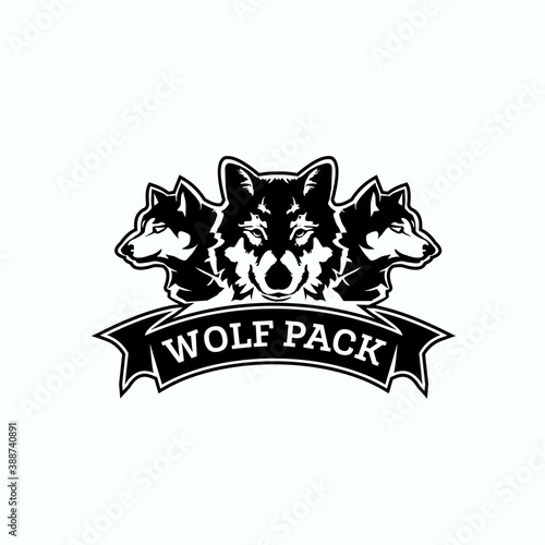 Canvas Print wolf pack logo exclusive design inspiration
