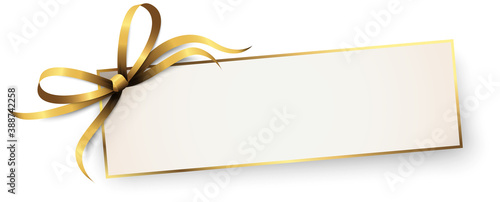 free space paper with ribbon bow