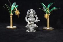 Antique Silver Indian God