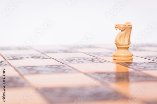 Scacchi fotografati su una scacchiera Canvas