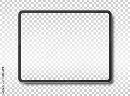 Tablet pc computer with blank screen. #388751819