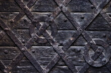 Old Medieval Wood Background T...