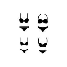 Women's Underwear Icon Logo, Vector Design