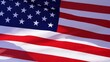Slow motion of Unated States American flag waving in the wind video, USA symbol