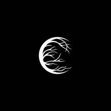 Moon Logo Design Moon Root Logo Design