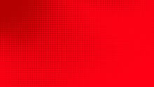 Dots Halftone Red Color Patter...
