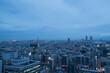 Twilight skyline of Osaka city, cityscape after the sunset