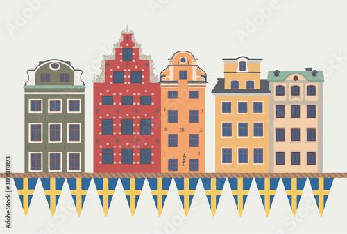 ilustracja-wektorowa-z-kolorowych-domow-star