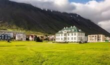 White Isafjordur Culture House...