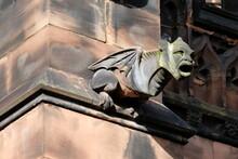 Grotesque Gargoyle, Chester Cathedral,UK.