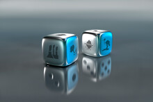 Pair Of Dice With Environmental Damage Symbols