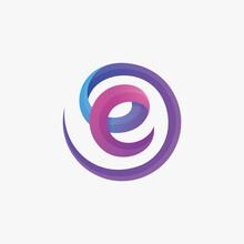 Gradient Initial Letter Logo T...