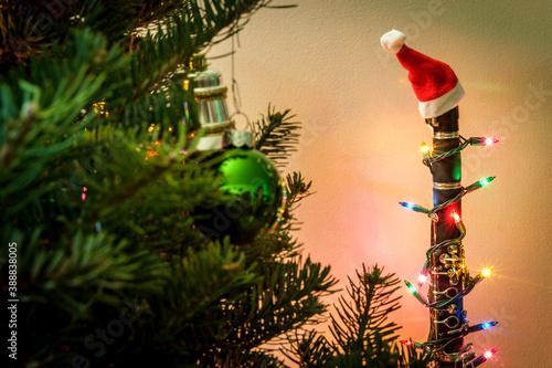 Valokuva Christmas Music Clarinet Tree