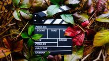 Wooden Movie Clapboard In Fra...