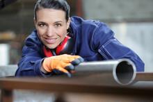 Happy Hardworking Woman Checki...