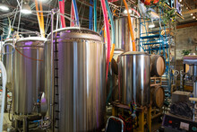 Brewery Storage Tanks With Col...