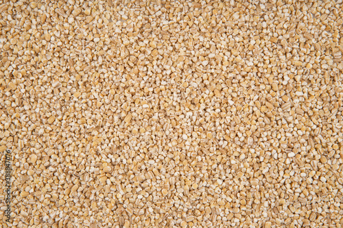 Obraz na płótnie The texture of barley groats - top view and close-up on the grains of barley gro