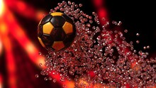 Black-Yellow Soccer Ball With ...