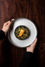 Sea Urchin On A Black Rice Bed