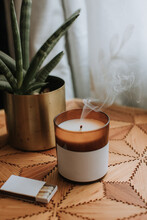 Smoky Candle In Living Room