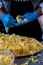 Preparing And Selling Jackfruit