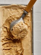 Salted Caramel Ice Cream Scoop