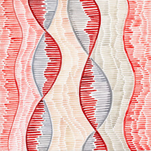 DNA Inspired Watercolor Abstra...