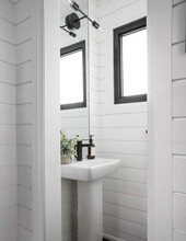 Shiplapped Powder Room