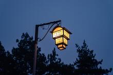 A Street Lamp Looking Like A Traditional Macedonian House, Lake Ohrid, Northern Macedonia