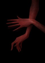 Red Hands With Long Fingers On...