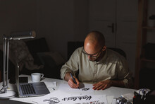 Artist Enthusiastic About Process Of Drawing