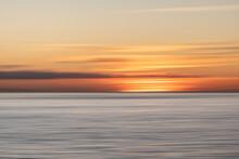 Blurred Coastal Sunset