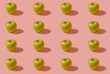 Pattern Of Green Apples Agains...