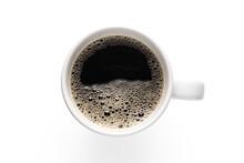 Top View, White Glass Coffee C...