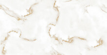 White Marble With Golden Veins. White Golden Natural Texture Of Marble. Abstract White, Gold And Yellow Marbel. Hi Gloss Texture Of Marble Stone For Digital Wall Tiles Design.