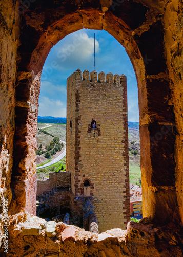 El castillo de Molina de Aragón, también llamada fortaleza de Molina de los Caba Canvas Print
