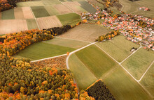 Aerial View Of A Village Situe...
