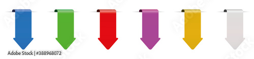 Obraz set of arrow bookmark banner for any text on white background  - fototapety do salonu