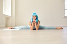 Positive Yoga Or Gymnastics Tr...